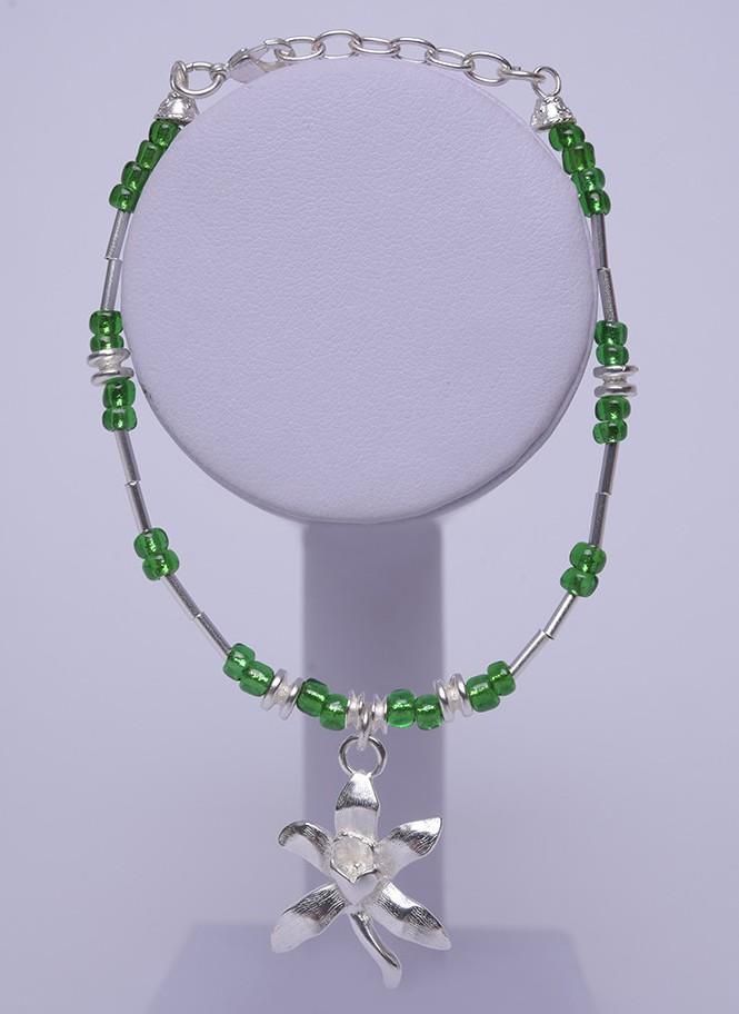 Bracelet orchidée argent