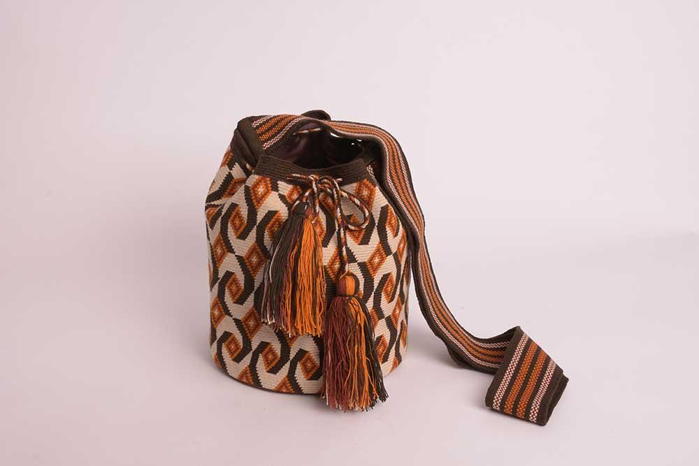 Mochila Wayuu sable marron