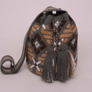 Mochila Wayuu grise