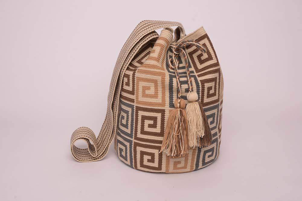 Mochila Wayuu beige marron