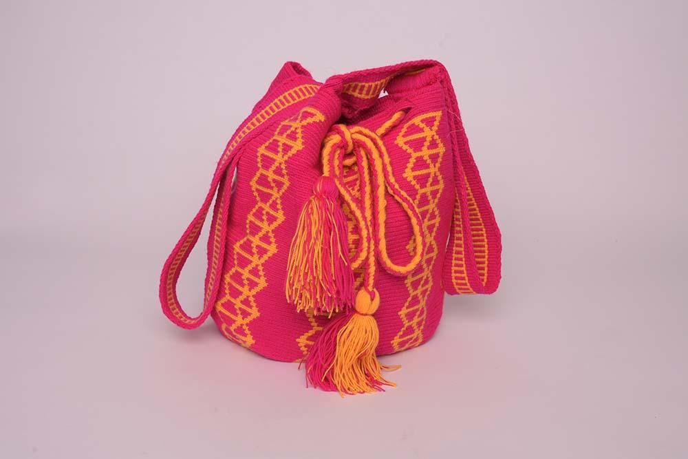 Sac Mochila Wayuu Fuchsia
