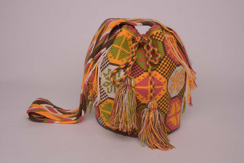 Sac Mochila Wayuu Jaune Orangé