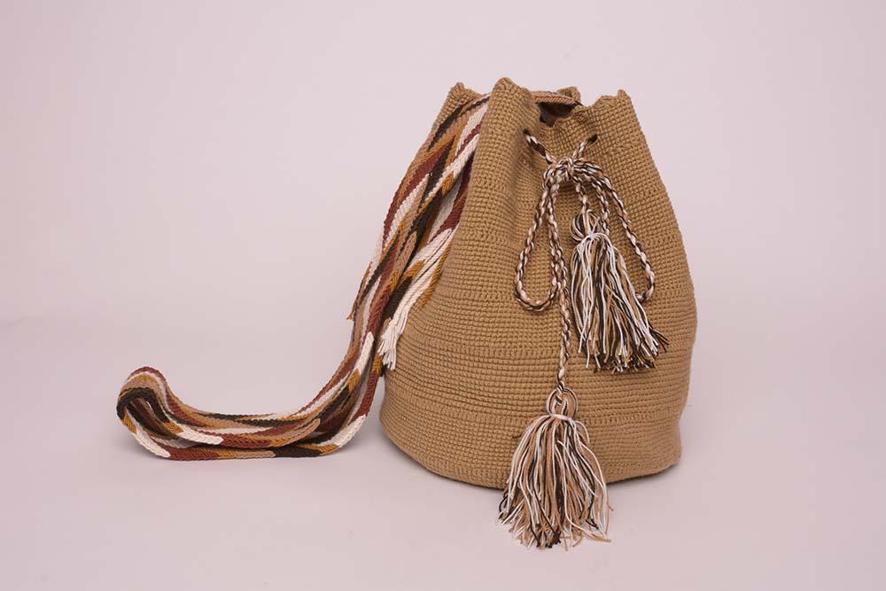 Mochila Wayuu Sable