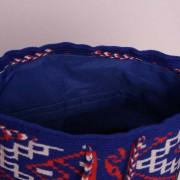 Poches sac ethnique mochila colombien Wayuu Bleu-blanc-rouge