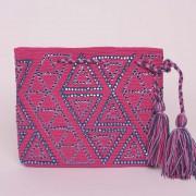 petit sac pochette ethnique colombienne Wayuu