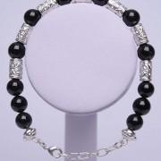 Bracelet onix argent