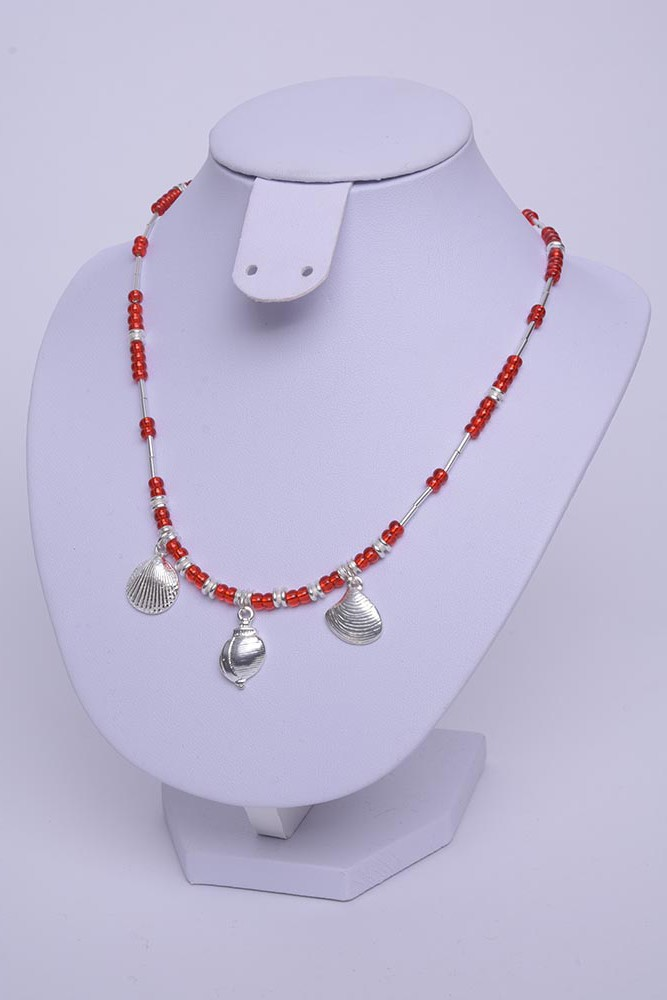 Collier coquilles argent