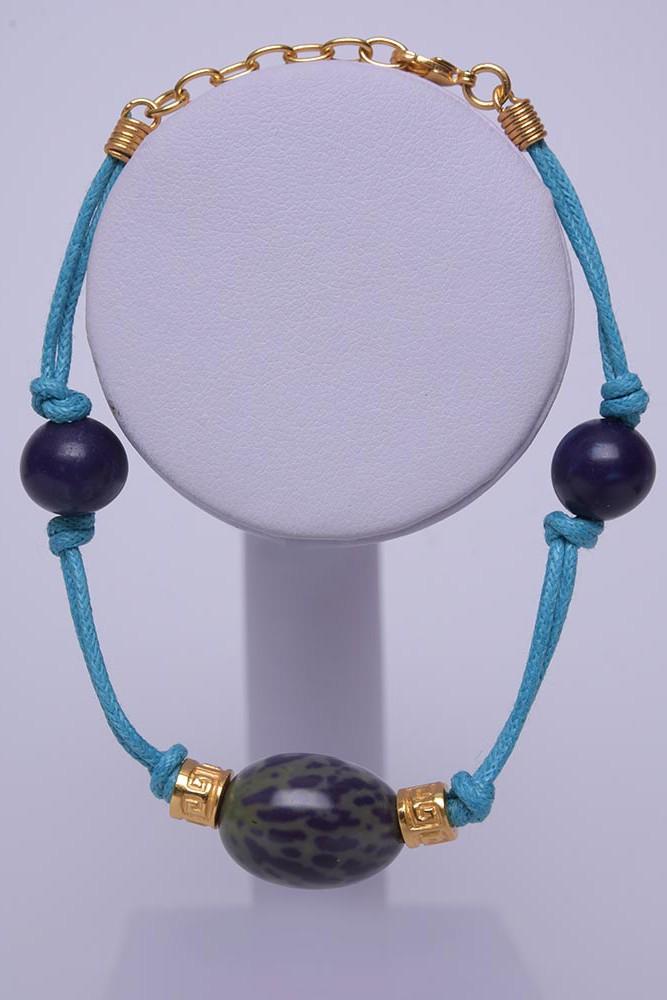 Bracelet ethnique Graine Bleue