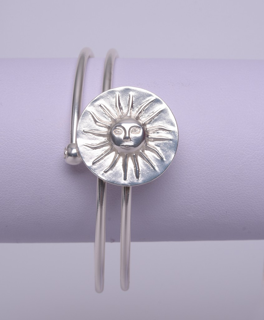 Bracelet Ethnique Soleil Muisca Argent