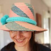 Chapeau ethnique artisanal Wayuu de Colombie