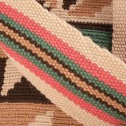 Détail Sac Cabas Ethnique Wayuu aux couleurs naturelles