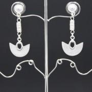 boucles d'oreilles ethniques pendantes artisanales Sinu plaqué or de Colombie