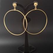 Grandes boucles d'oreilles ethniques artisanales créoles plaqué or