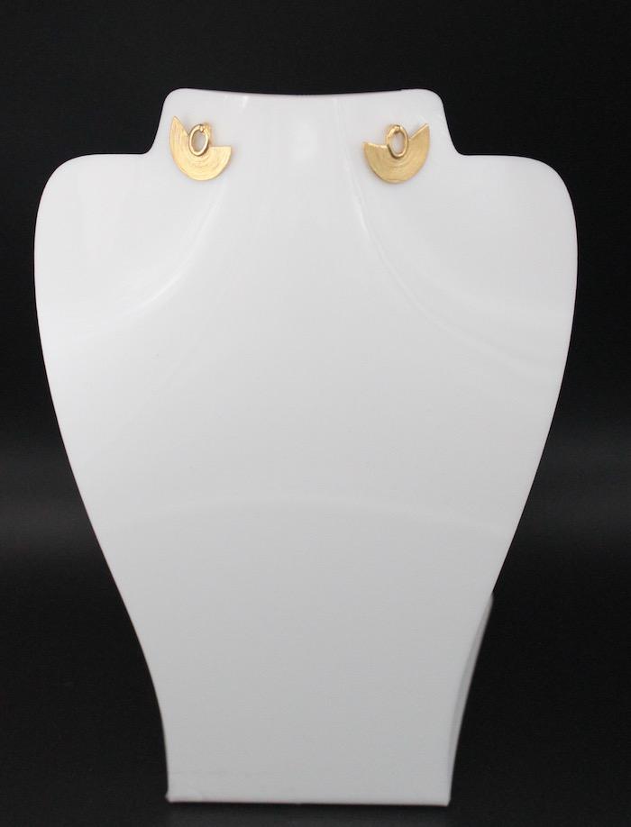 Boucles d'oreilles plaqué or Sinu
